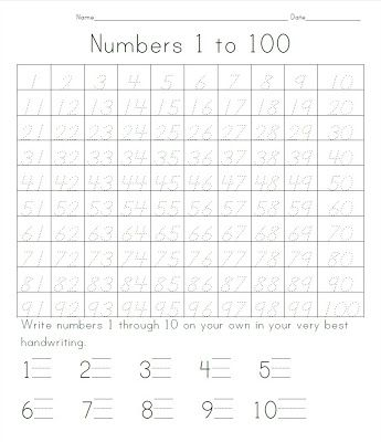 The Green Grass Grew All Around Number Tracing 1 To 100 Writing Numbers Kindergarten 100 Days Of School Writing Numbers Tracing numbers 1 100 worksheets