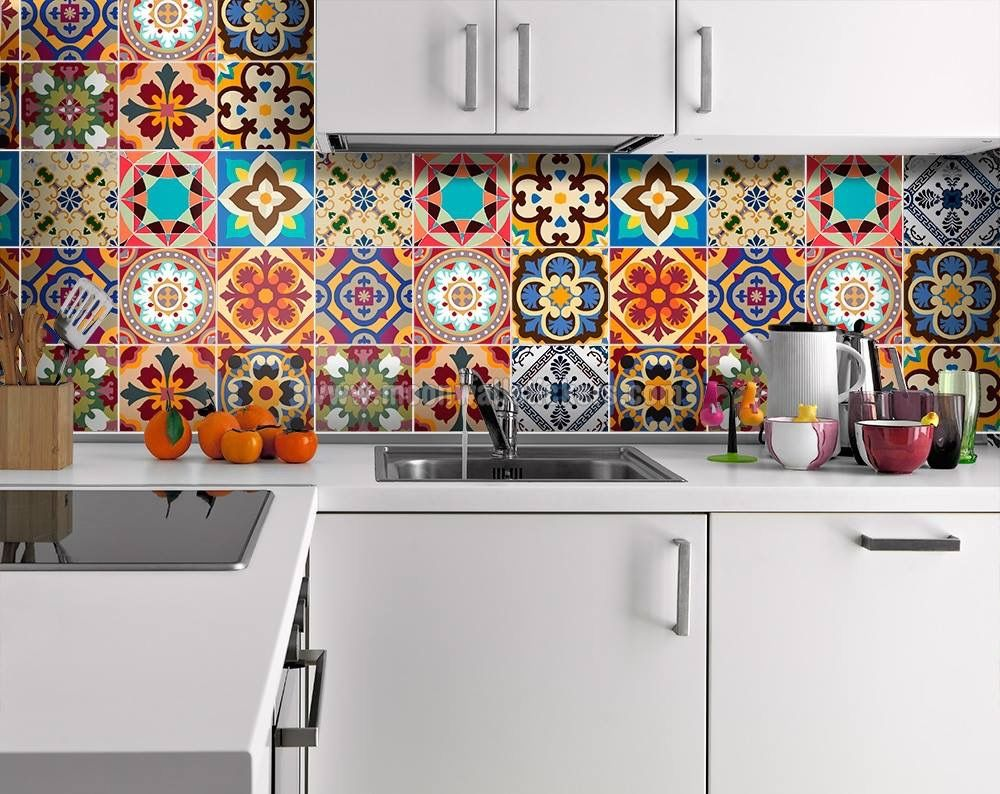 Pin by Sheila Latham on Mexican Inspiration | Pinterest | Mexicans Decals Kitchen Backsplash Ideas on vinyl wall decal backsplash, kitchen decals refrigerator, kitchen wall decor,