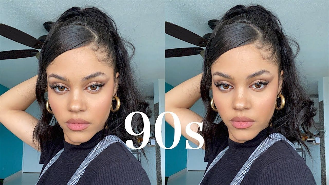 BEGINNER TRIES 90S FLIP PONYTAIL ON CURLY HAIR FOR THE FIRST TIME