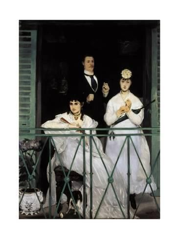 Art Print The Balcony by Edouard 24x18in in 2019