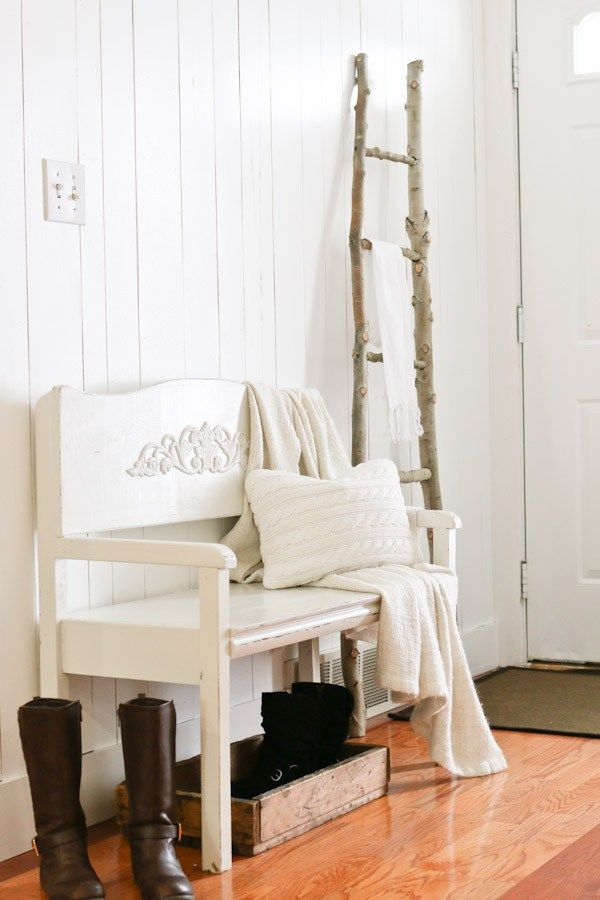 Winter entry way inspiration embracing white simple and for Funky junk home decor newfoundland