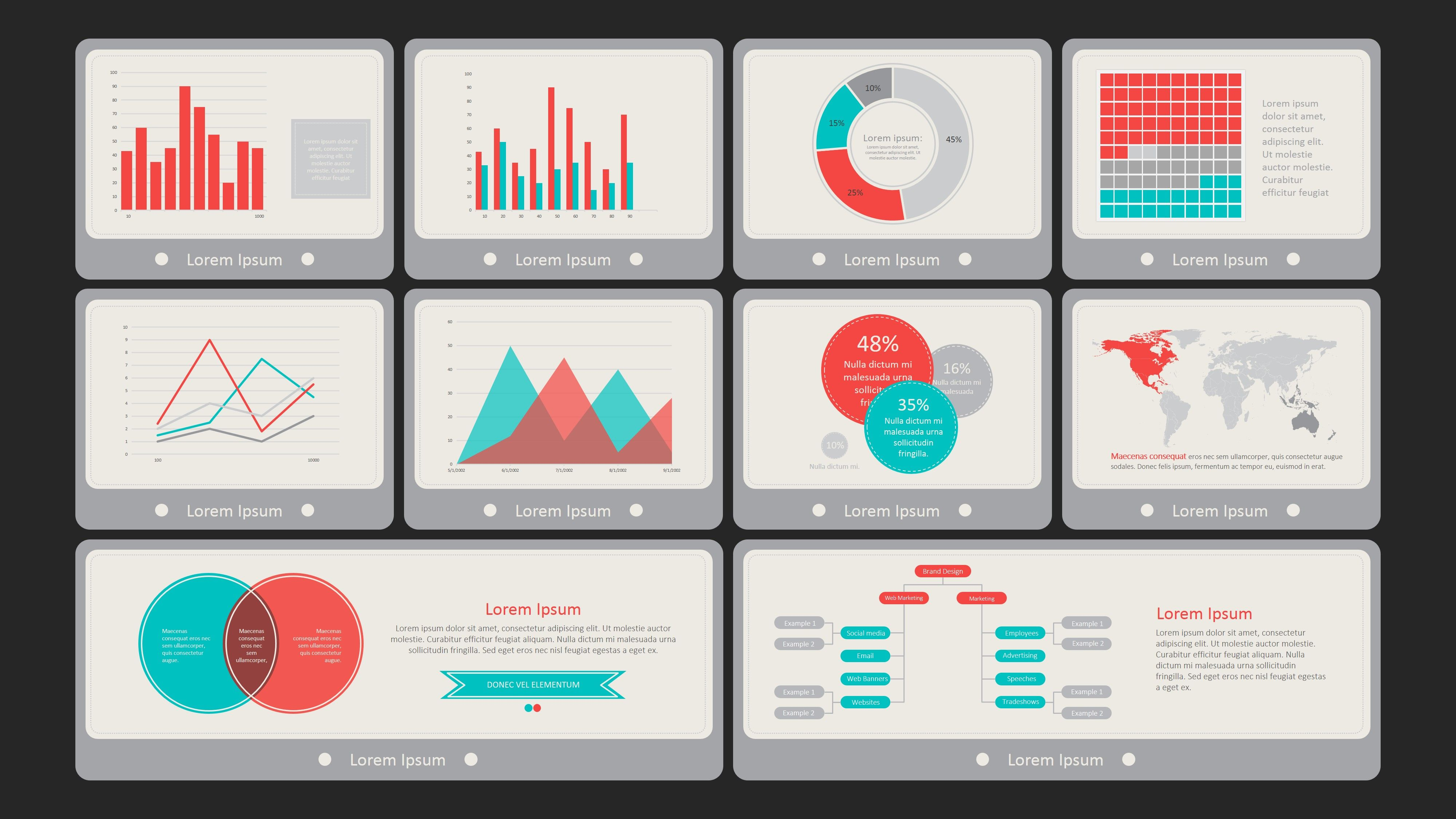 PPT Dashboard Template Flat Vintage | Dashboard/Scorecard Examples ...