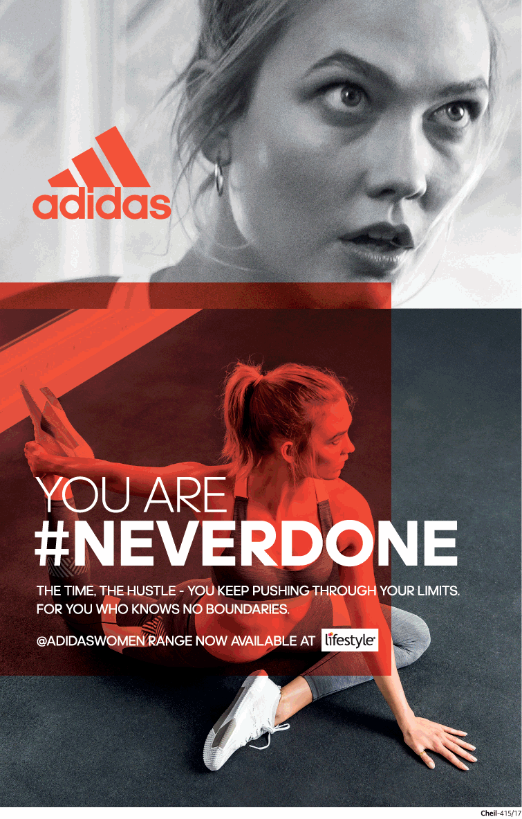Adidas You Are Never Done Ad Delhi Times Check Out More Adidas Advertisement Collection At Sports Graphic Design What Is Fashion Designing Sports Advertising