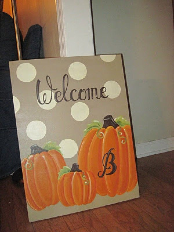 Image Result For Easy Painting Pumpkins On Canvas