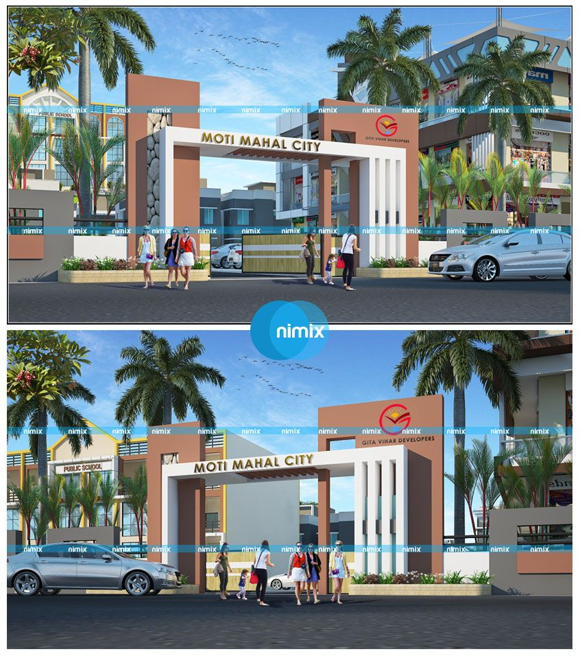 3d gate design for moti mahal city township project near bihta