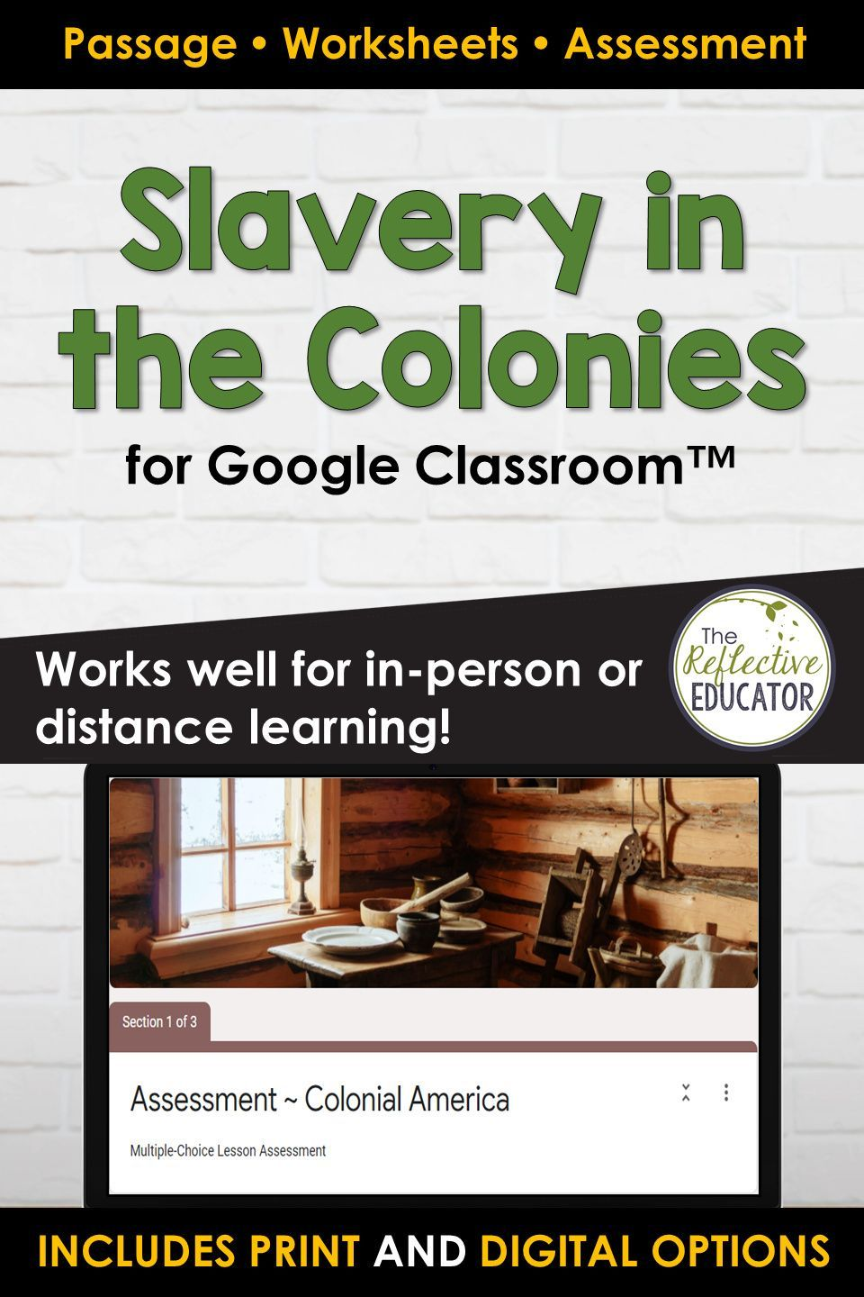 Slavery In The Colonies Colonial America Google Classroom Distance Learning Distance Learning Google Classroom Social Studies Lesson