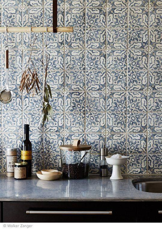 Portugiesische Fliese in Dekoration: 60 inspirierende Fotos #kitchenbacksplash