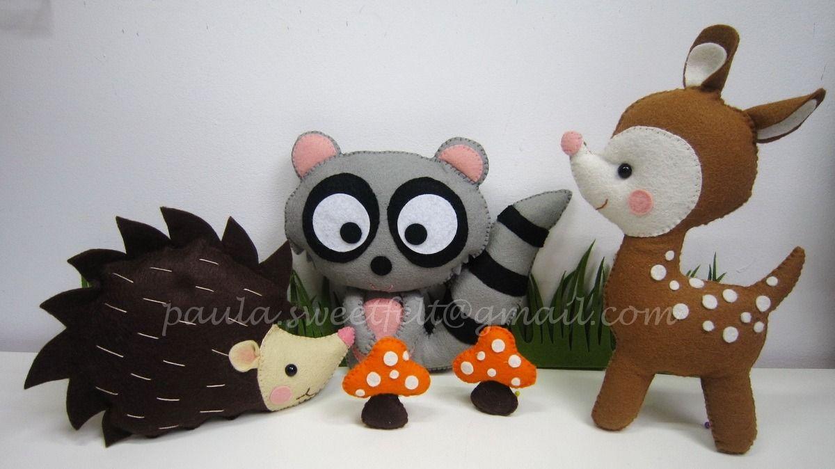 animaux de la for t pour d corer la chambre de b b jeux peluches doudous par sweetfelt. Black Bedroom Furniture Sets. Home Design Ideas
