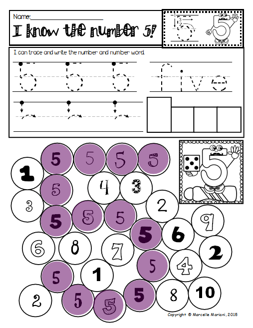 Math Numbers 1 20 Practice Worksheets Trace Write Dab Or Color