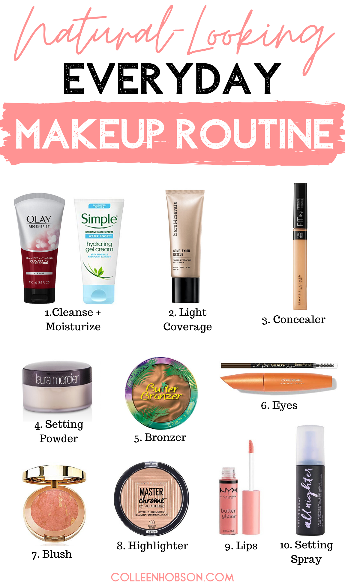 Natural Everyday Makeup Routine in 2020 Natural everyday