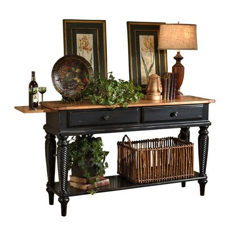 I pinned this Cumbria Sideboard Table in Black from the Rustic Revival event at Joss and Main!