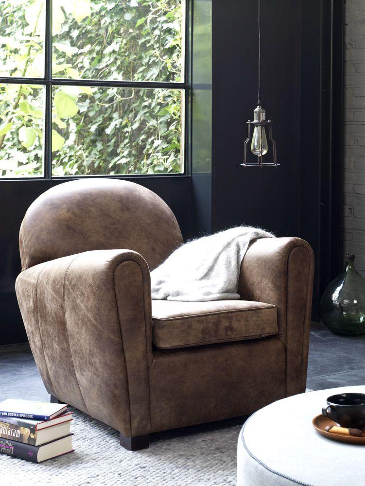 Stoel fauteuil woonkamer loft stoer hotel lobby for Stoel woonkamer