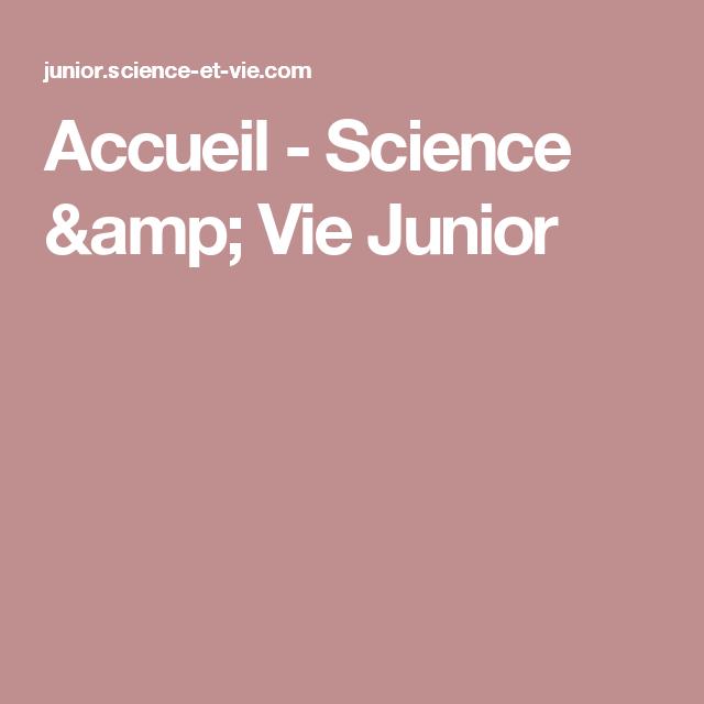 Accueil - Science & Vie Junior