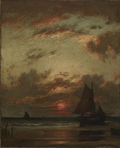 Sunset on the Coast - Jules Dupre