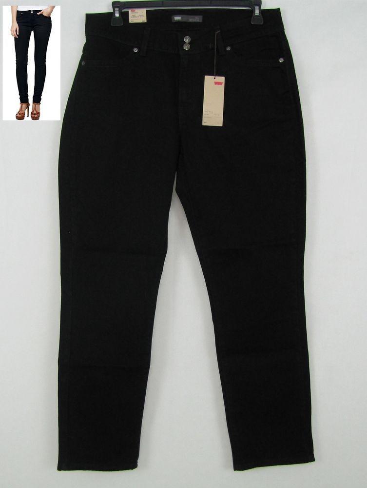 f839fd40 Levi's 529 Curvy Fit Skinny Leg Women's Black Jeans Size 16 NEW #Levis  #CurvyskinnyLeg 29.99