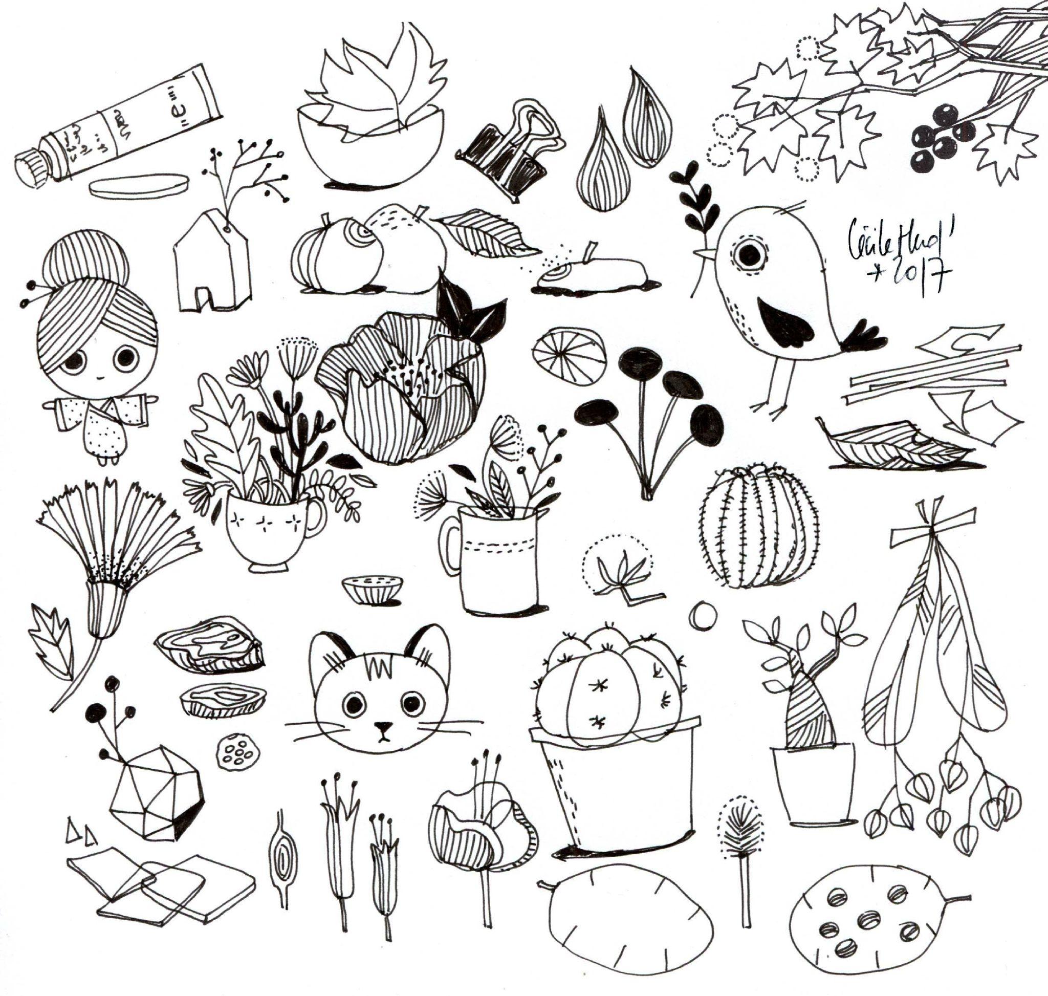 Doodles Cecile Hudrisier Dessin Nature Dessins Faciles Dessin
