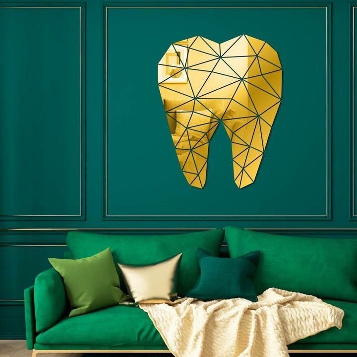 diy 3d tooth mirror sticker mirror wall stickers on wall stickers 3d id=38977