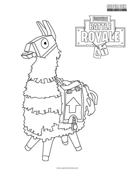 Llama Fortnite Coloring Page Llama Coloring Page Free Coloring Page Template Printing Printable Llama Coloring Coloriage Coloriage Gratuit Page De Coloriage