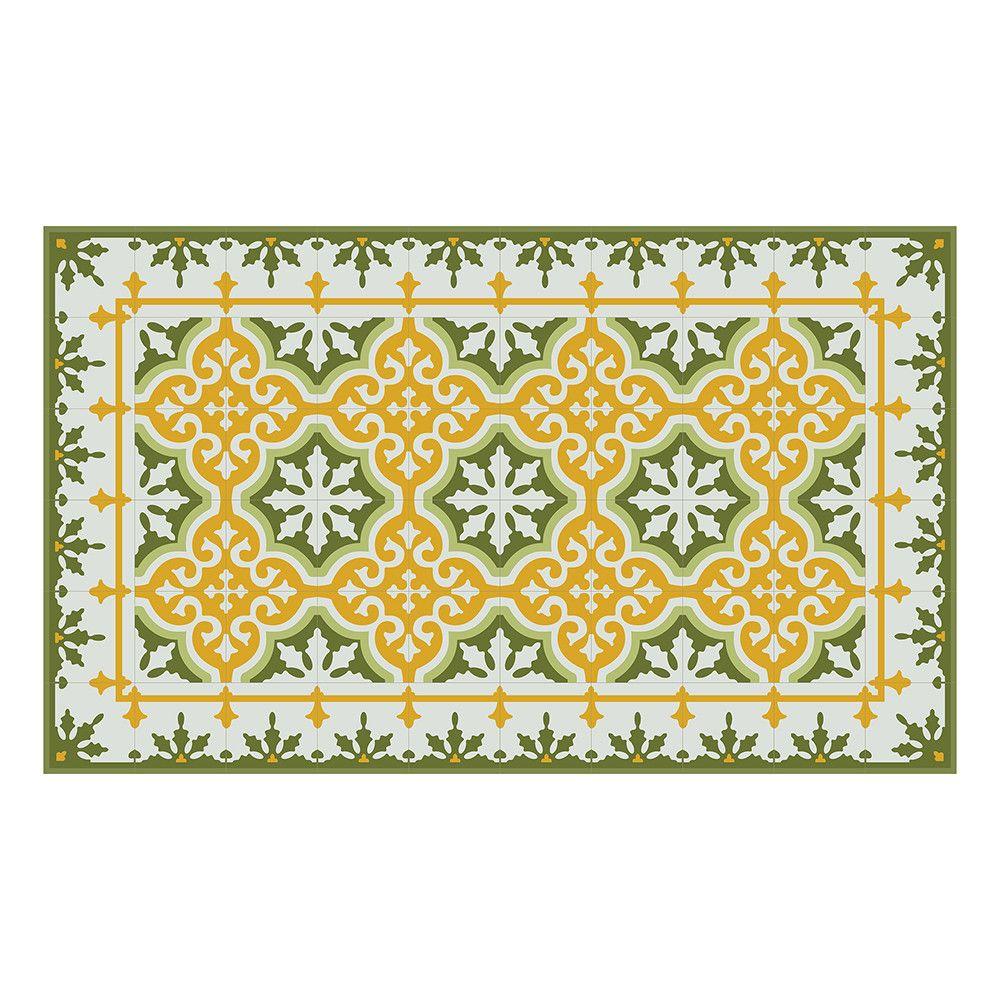 Discover The Beija Flor Mountain Vinyl Floor Mat   Yellow U0026 Green   Runner  At Amara