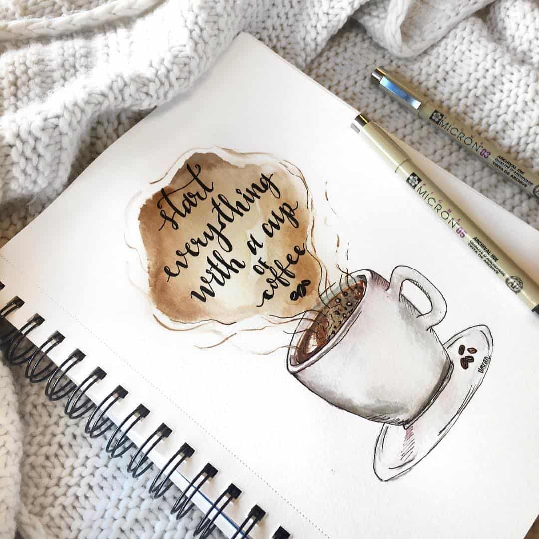 coffee bullet journal layout spread ideas #bulletjournalideas