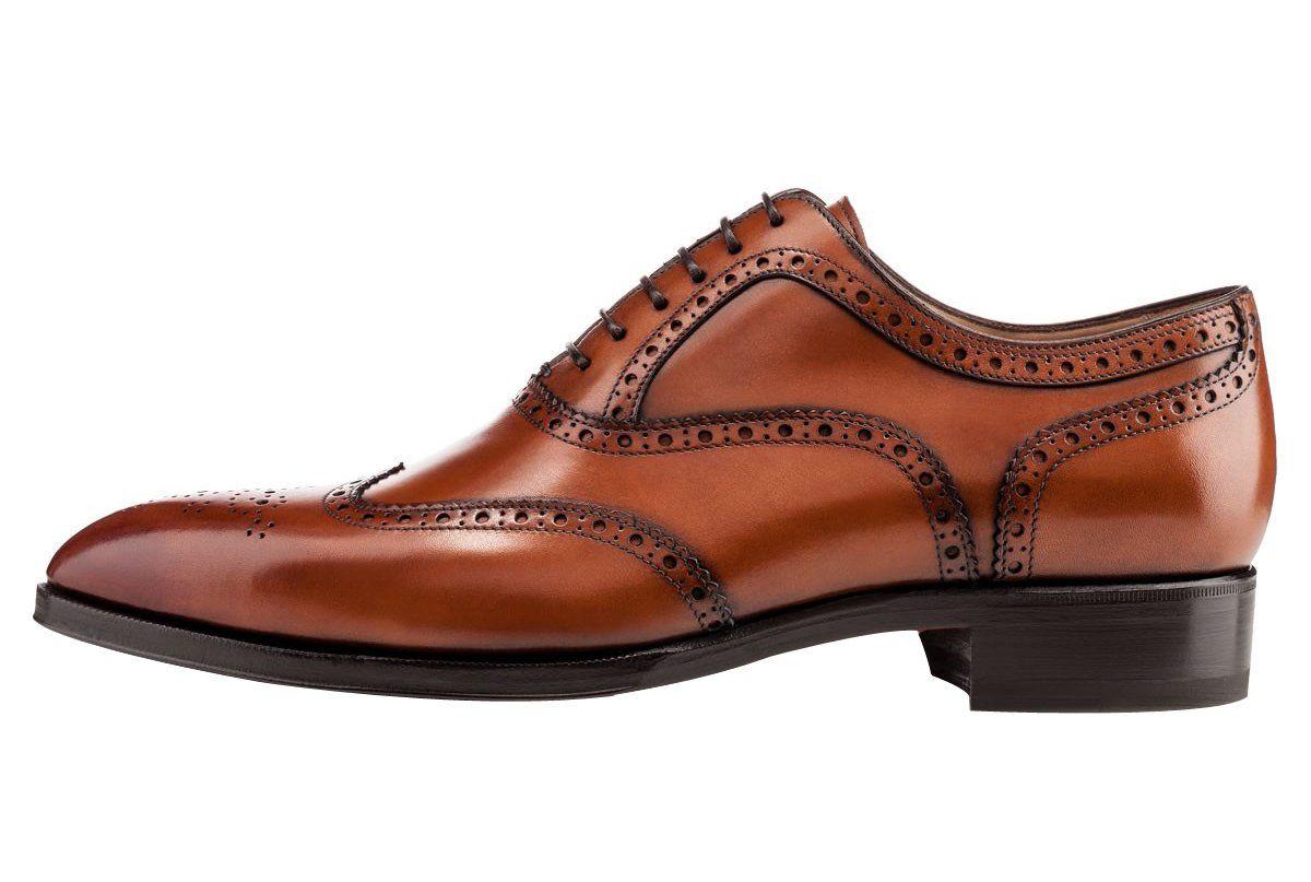 Chaussures à bout pointu à lacets marron homme FqEH23fK4
