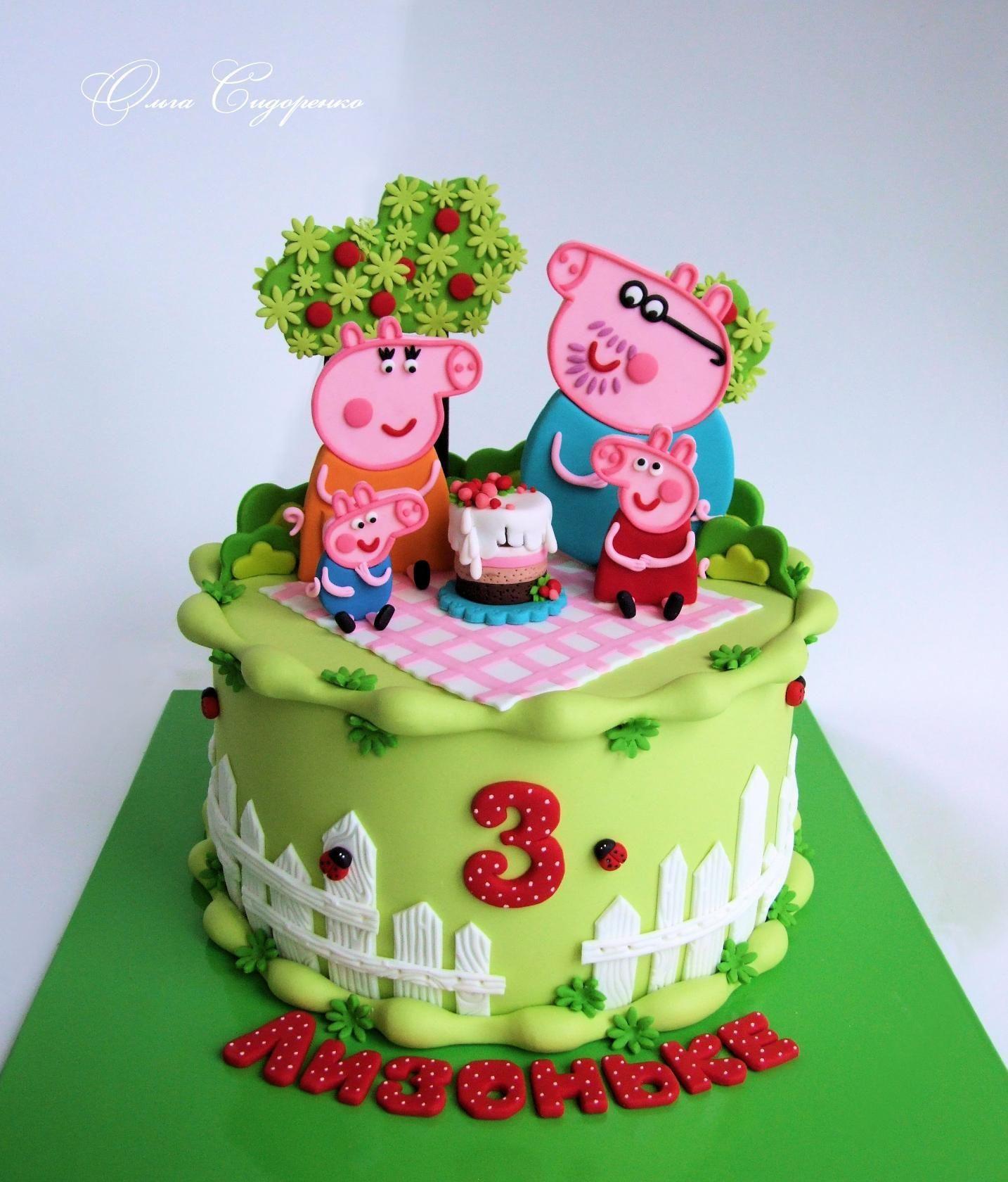 Картинки торт с свинкой пеппой