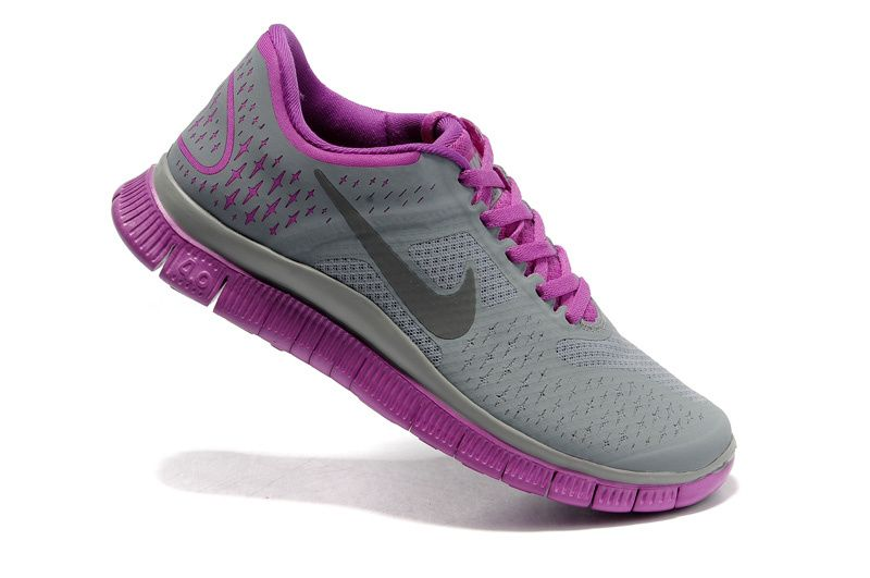 Nike Free 4.0 V2- Gray Purple running shoes