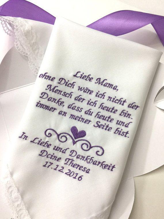 Deutsche Version Mama Hochzeit Taschentuch Mutter Of