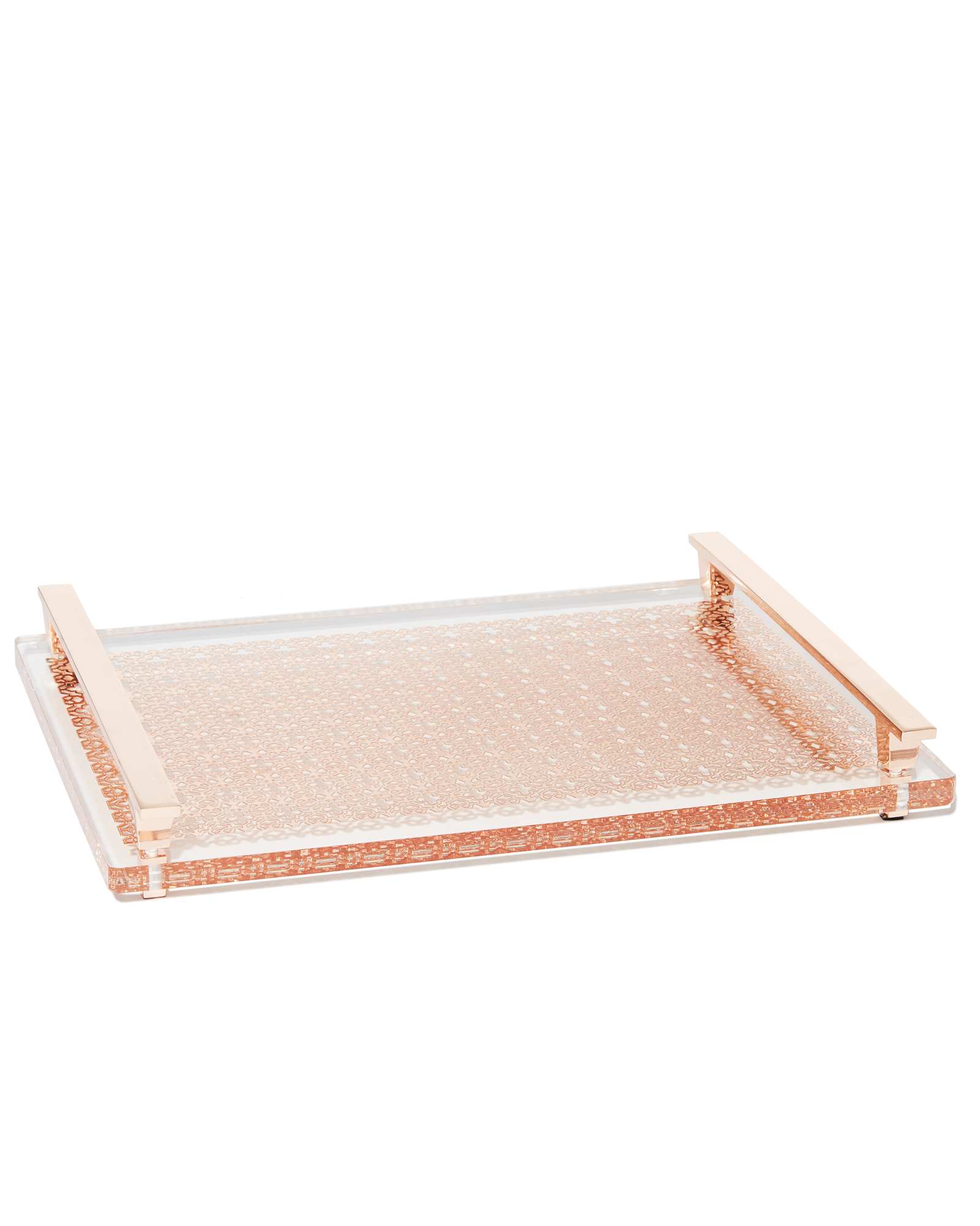 Decorative Tray Gorgeous Thoughtfully Crafted With Our Signature Filigree And Rose Gold Design Inspiration