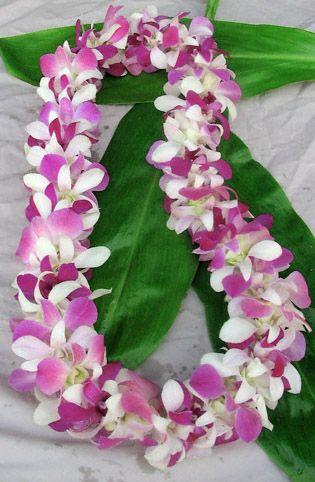 Fresh Orchid Leis Hand Made In Hawaii Orchid Lei Hawaiian Flowers Hawaiian Lei