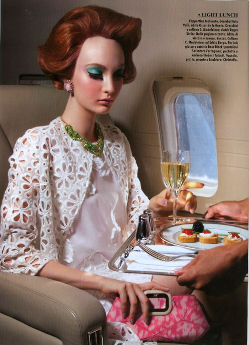 """Codie Young in """"Fly High"""" by Greg Lotus for Vogue Italia, May 2012"""