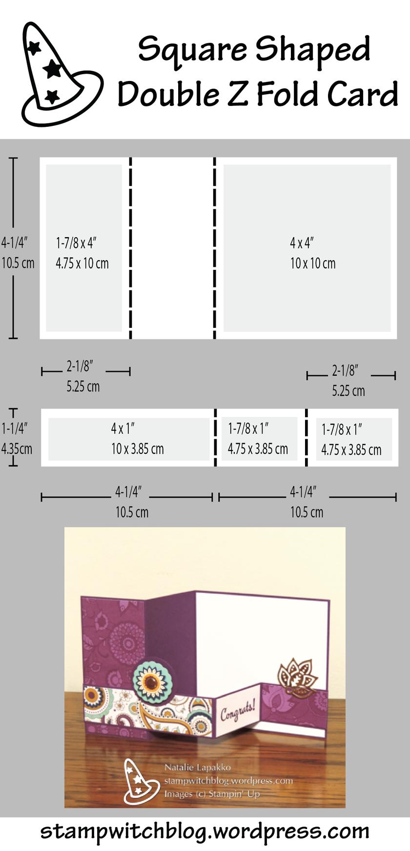 Petals And Paisleys Double Z Fold Card Fun Fold Cards Folded Cards Step Cards