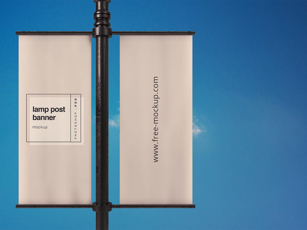 Lamp Post Banner Mockup Free Mockup Free Mockup Mockup Banner Advertising