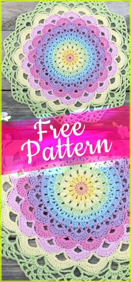 26+ Trendy Ideas Crochet Mandala Pattern Free Beautiful #crochetmandalapattern