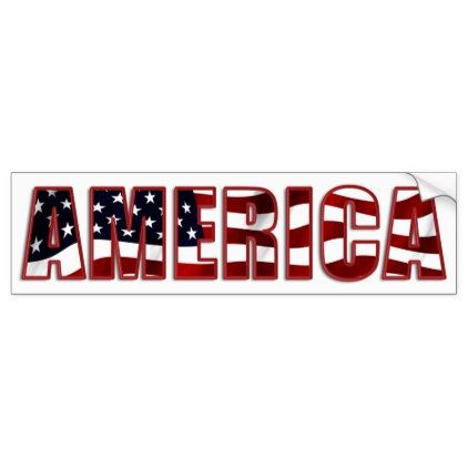 America colorful and patriotic bumper sticker veterans day us patriot holiday usa vets