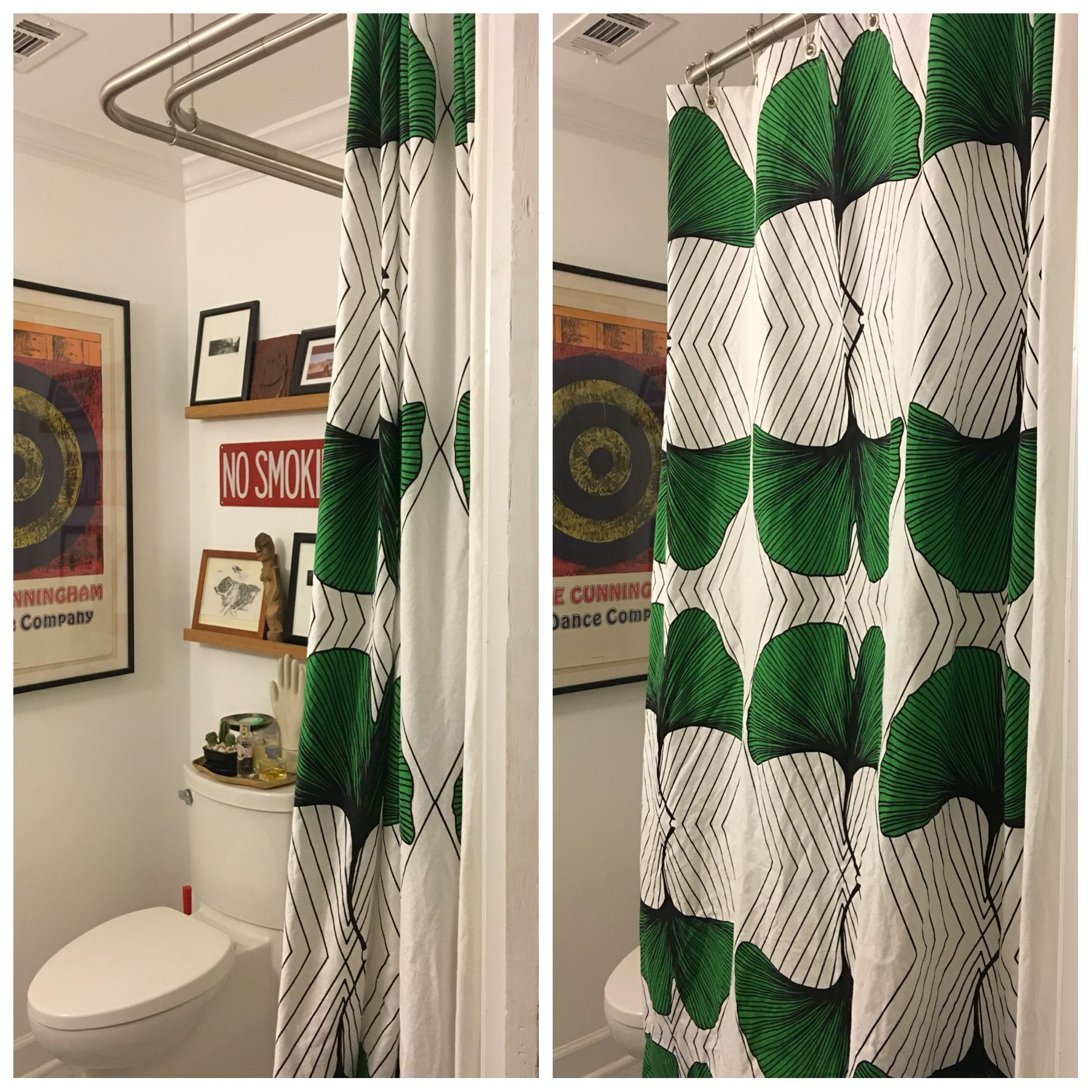 So Happy About My DIY ANVÄNDBAR Shower Curtain And Corner Rod. Saved  Zillions Over Glass
