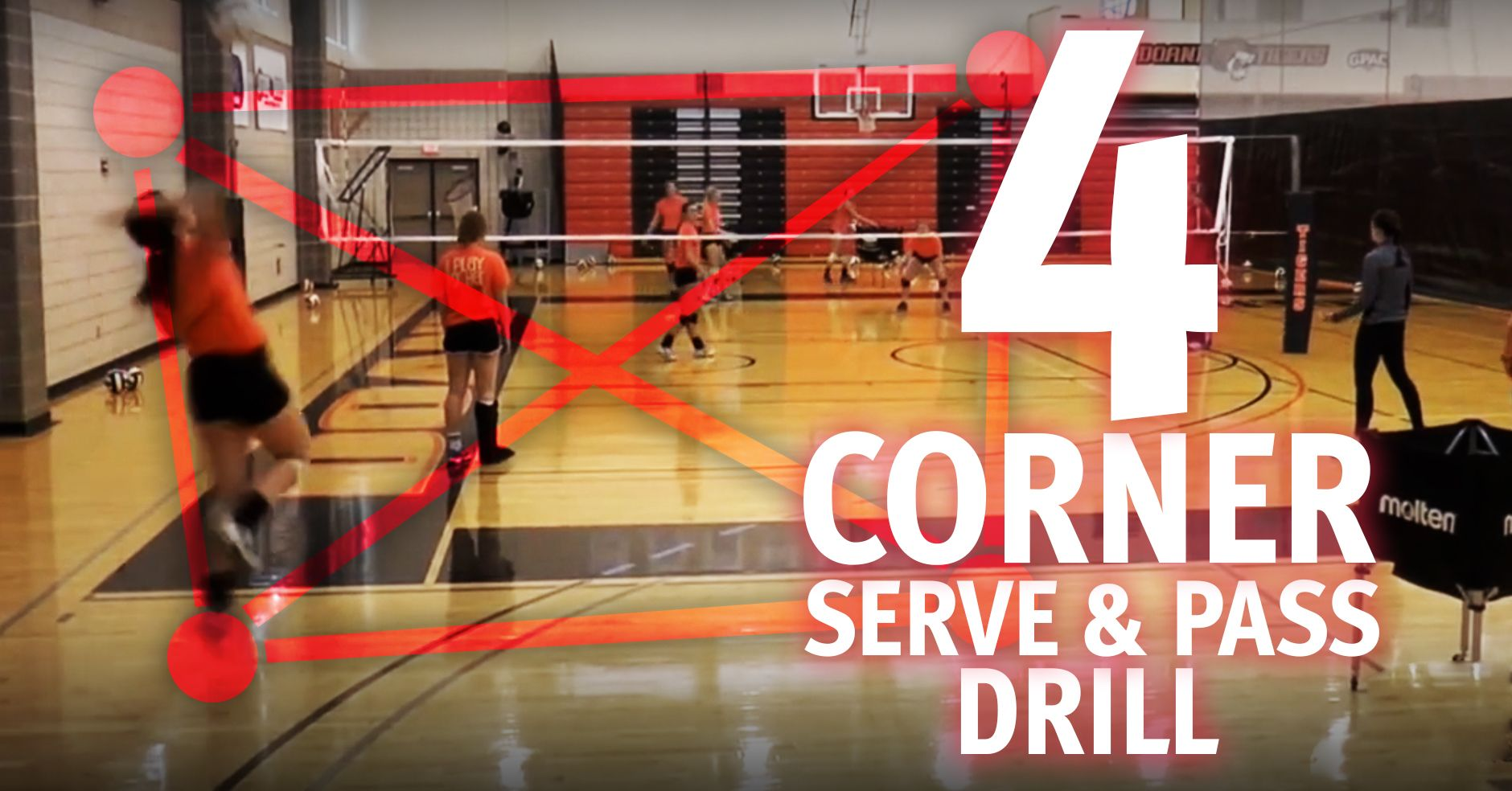 how to serve a volleyball over the net
