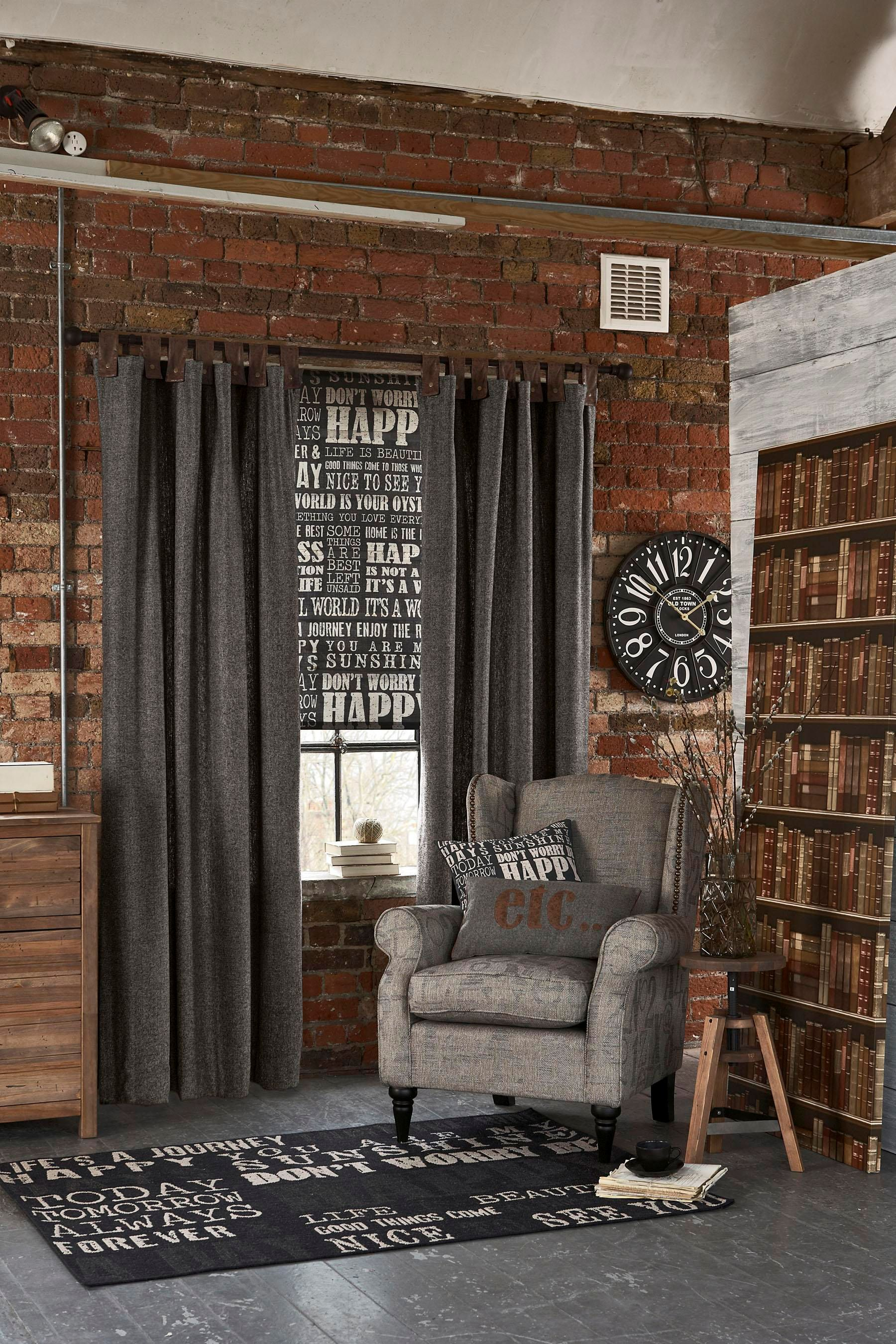 Buy Faux Leather Tab Top Curtains From The Next Uk