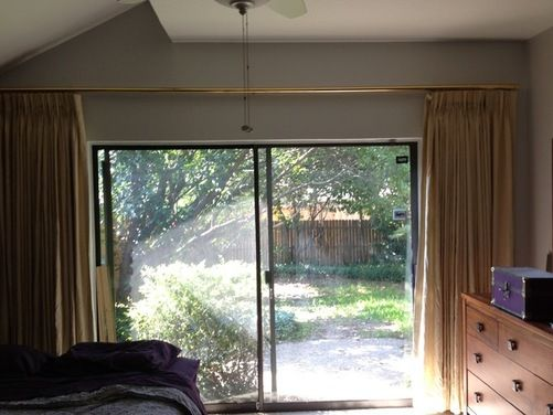 Curtain Ideas For Sliding Glass Door In Master Bedroom Houzz Patio Door Slider Patio Doors Sliding Patio Doors