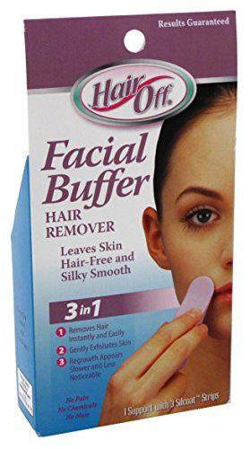 HairOff Facial Buffer 3 Each Shea & Organic Cotton Ultra Comforting Serum 0.5oz