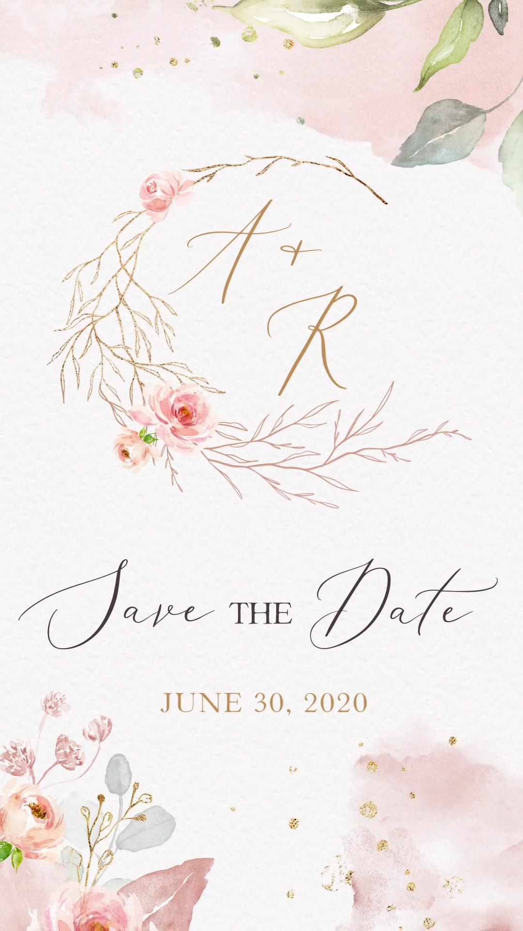 Romantic Save The Date Video Whatsapp Invite Date Invite Romantic Save Video Wh In 2020 Save The Date Invitations Save The Date Video Digital Wedding Invitations