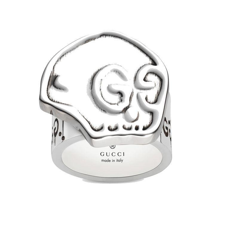 46950bd4a GucciGhost silver skull ring Silver Skull Ring, Silver Jewelry, Sterling  Silver Rings, Gucci