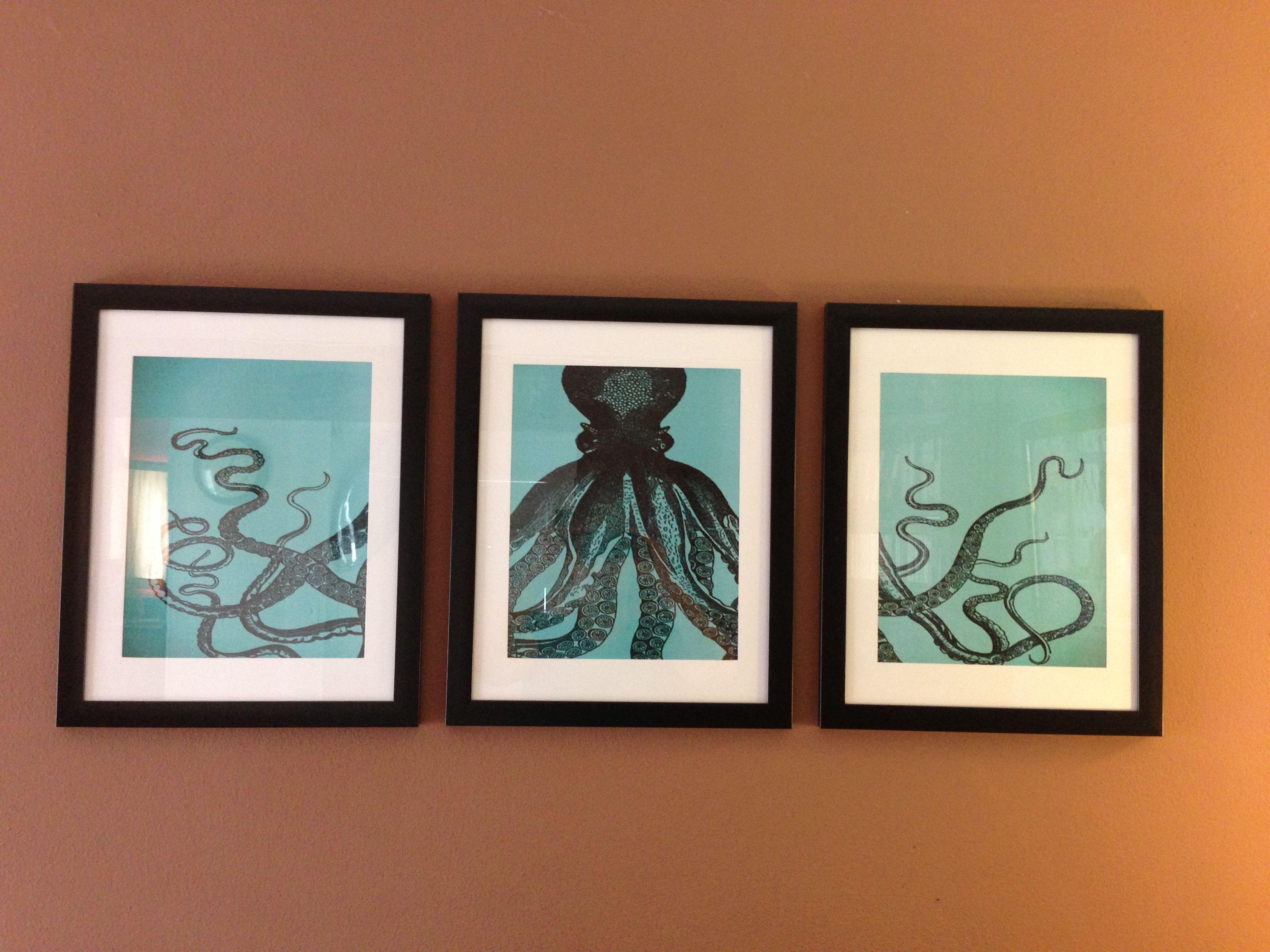 DIY Octopus wall art I made. Cost under $30
