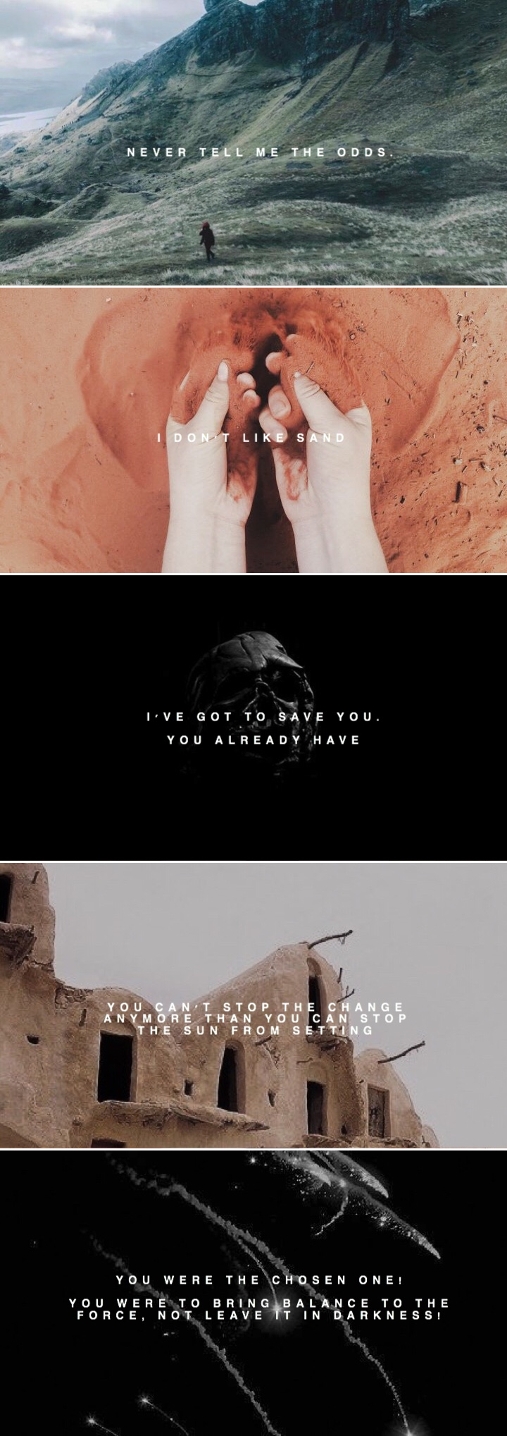 Im All For The I Dont Like Sand Aesthetic Star Wars Pinterest