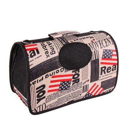 Large 47*26*29cm Pet Dog Carrier Travel Bag Crate Cat Tote Cage Folding Kennel pet bag portable teddy dog Bag backpack 4 Colors