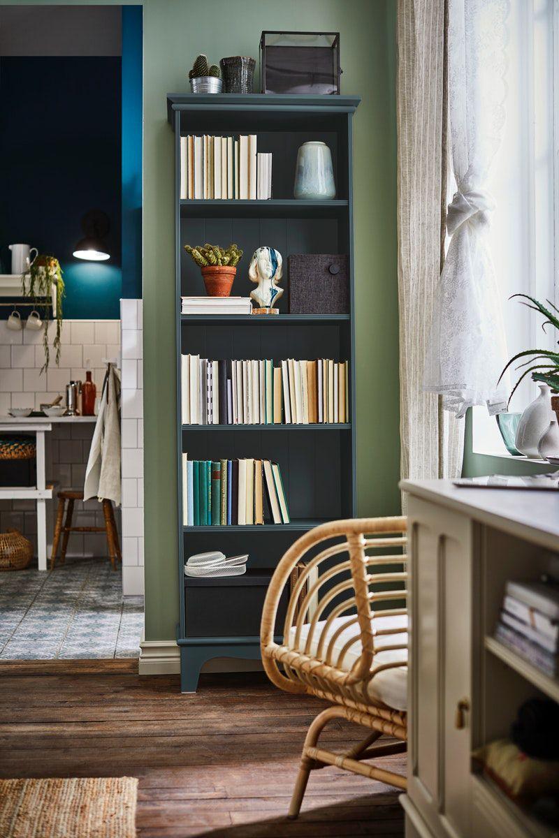 Lommarp Bucherregal Dunkel Blaugrun Ikea Deutschland In 2020 Gemutliches Haus Inneneinrichtung Haus Deko