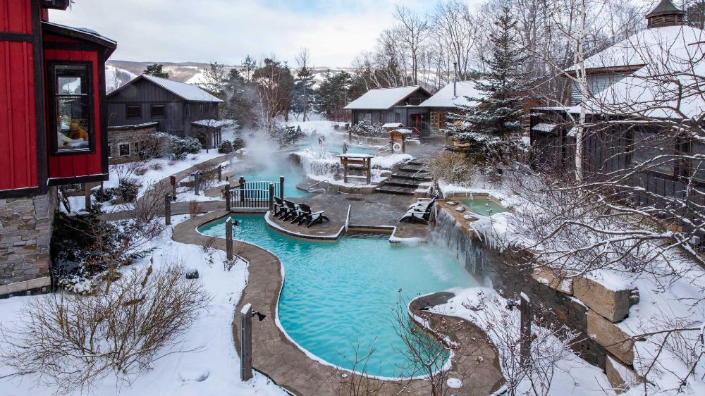 Rejuvenate At Scandinave Spa Blue Mountain Outdoor Spa Baths Outdoor Spa Blue Mountain Spa