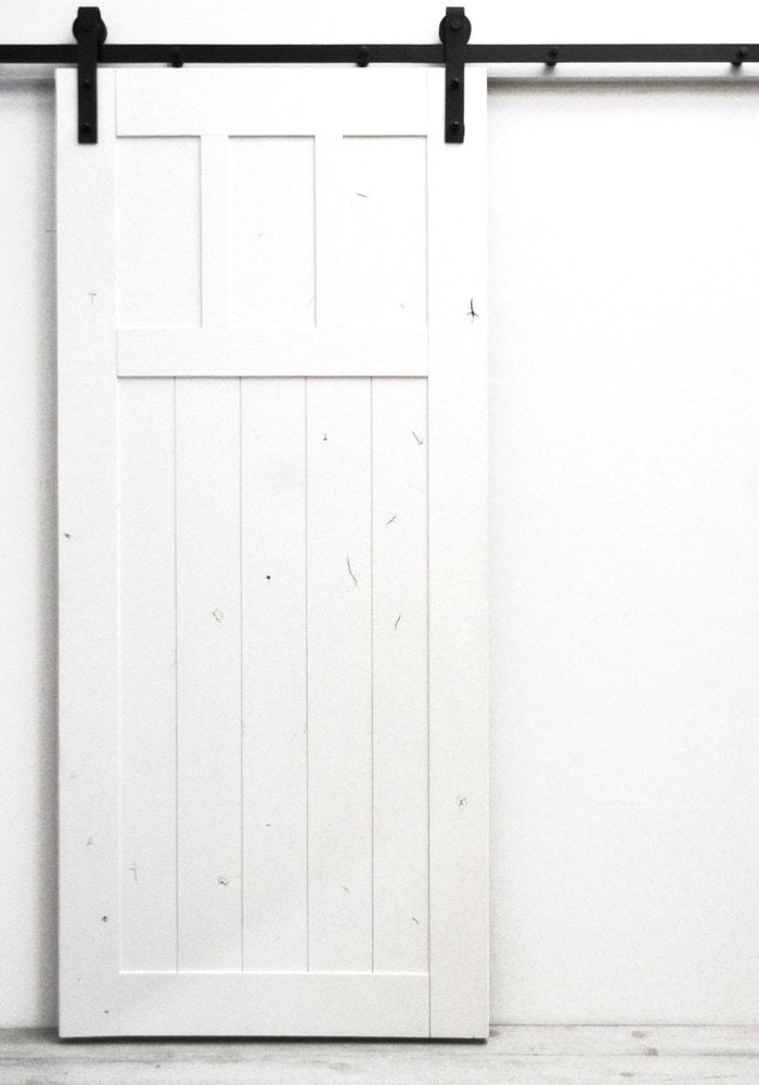 Dogberry Collections Craftsman Barn Door Alder 36 Inches Sliding White