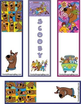image about Scooby Doo Printable identified as Scooby Bookmarks, Scooby Doo, Bookmarks - Totally free Printable