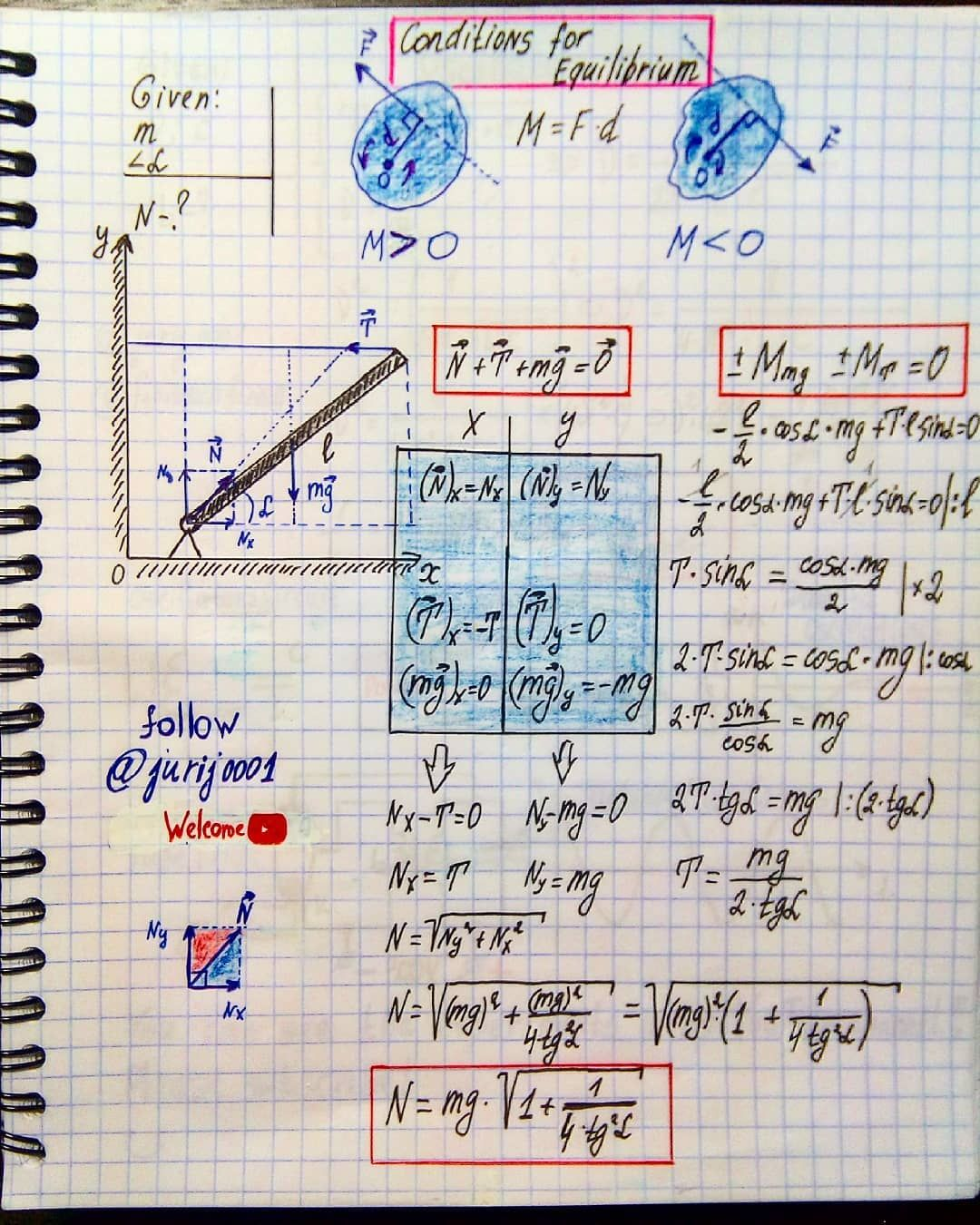 171 Me Gusta 2 Comentarios Jurius Phisicist Juriusphisicist En Instagram Condition For Equilibri Physics And Mathematics Physics Concepts Physics Notes